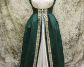 Green Renaissance Costume-Halloween Costume-Medieval Dress-LARP-Ren Fair-Steampunk-SCA-Adult Costume-Medieval Fantasy Dress-Item #129