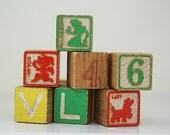 Lot of Wooden Letter Blocks, Vintage Wooden Building Blocks, Gift For Writer, Under 20, KID Toys Wooden, Large Wooden Toy Letter Blocks