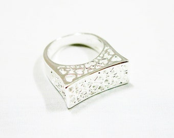 Size 7.5 Sterling Silver Ring, Floral Silver Ring, Silver Ring, Men Ring, Women Ring, Boho Ring, Tribal Ring, Tribal Silver Ring