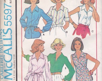 Versatile Blouse Pattern McCalls 5597 Size 8 Uncut