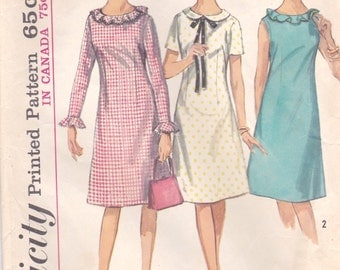 Darling A-Line Dress Pattern Simplicity 5910 Teen Size 12 Bust 32