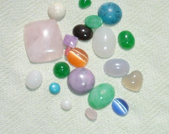 Lot of Assorted Cabochons - Craft SUpplies - 20 pcs