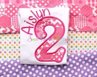 Polka Dot Birthday Embroidered Shirt - 2nd Birthday Shirt - Polka Dot Birthday - Spring Birthday - Cupcake Birthday - Girls Birthday Shirt