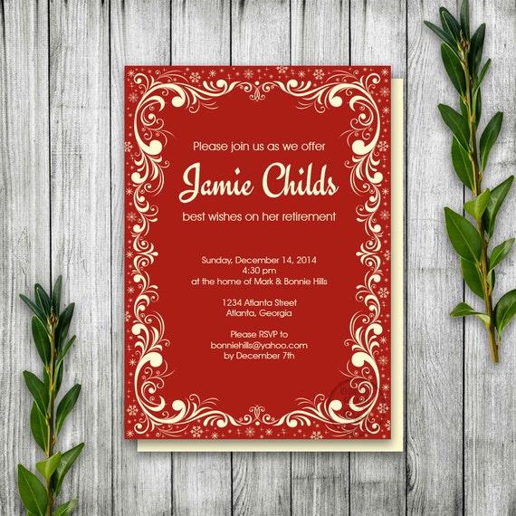Retirement Party Invitation Printable Engagement Party Invitation – Christmas Engagement Party Invitations
