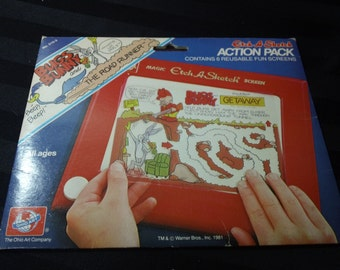 Bugs Bunny and the Road Runner Etch A Sketch Action Pack with 6 reusable screens vintage 1981 Ohio Art Toy
