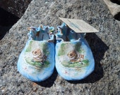 JEREMY FISHER Baby Shoes--Beatrix Potter--Peter Rabbit--summer--fishing--frog