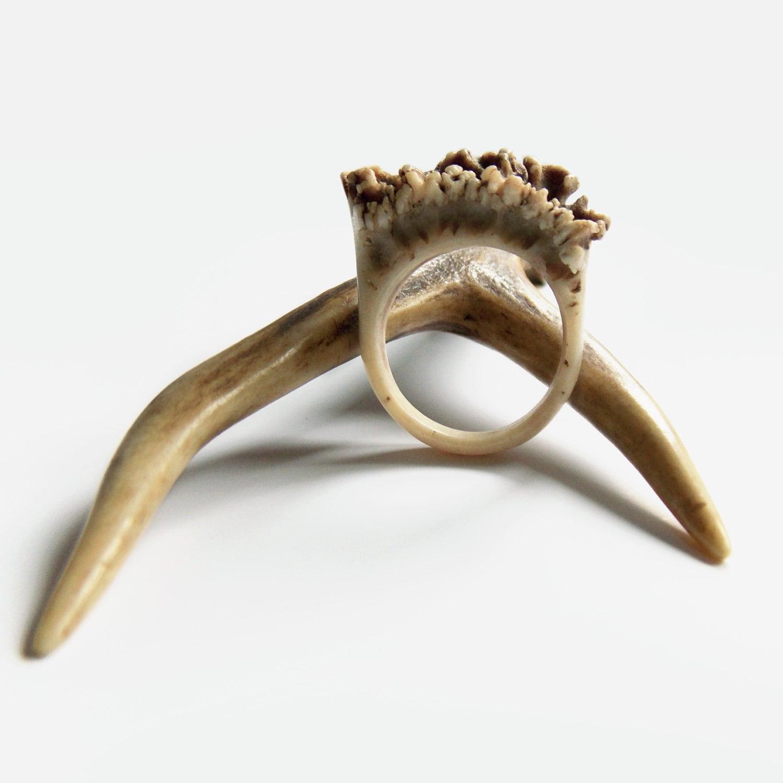 jewelry rings antler ring handmade boho ring for