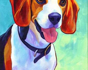 Custom Pet Portrait // 8 x 10 // Custom Dog or Cat Pet Acrylic Painting // By Corina St. Martin