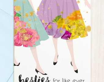 Besties - for like ever | Greeting Card
