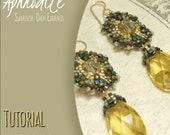 Tutorial to make Swarovski Crystal Earrings. Beadwork Pattern for Drop Earrings. Digital Download PDF