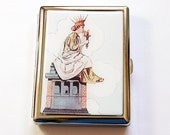 Metal cigarette case, Cigarette Case, Cigarette box, Statue of Liberty, Smoking, Lady Liberty, Retro Design, case for smokes (5067)