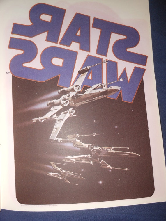 1977 Vintage Star Wars Iron On Transfer Make Your Own T
