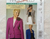Misses Lined Jacket Sewing Pattern, McCalls M6172, Plus Sizes 16 - 22, Classic Fit