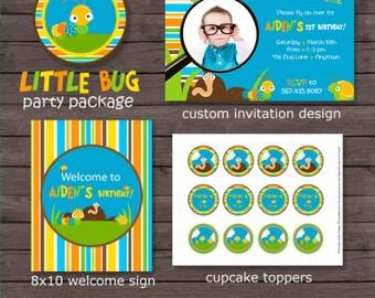 Bug Birthday Package - Bug Printable Birthday Package - Bug Party - Bug Invitation - Bug Birthday - Printable Bug - DIY Printable