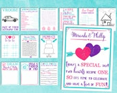 Kids Wedding Activity Book Printable | Kids Table Games For All Ages