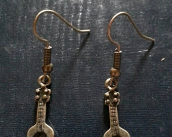 Bronze Acoustic Guitar Earrings