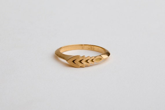 18k gold wedding band ring Pinkie Pinky gold by BermanDesigners