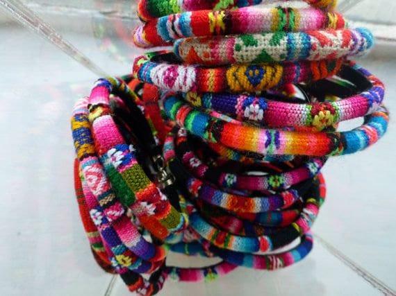 items similar to peruvian bracelets mixed rainbow colors 3 bracelets per order on etsy. Black Bedroom Furniture Sets. Home Design Ideas