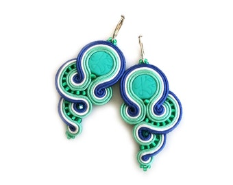 Birthday gift for wife - Gift for girlfriend - Soutache earrings - birthday gift for best friend birthday gift for sister Gift for daughter
