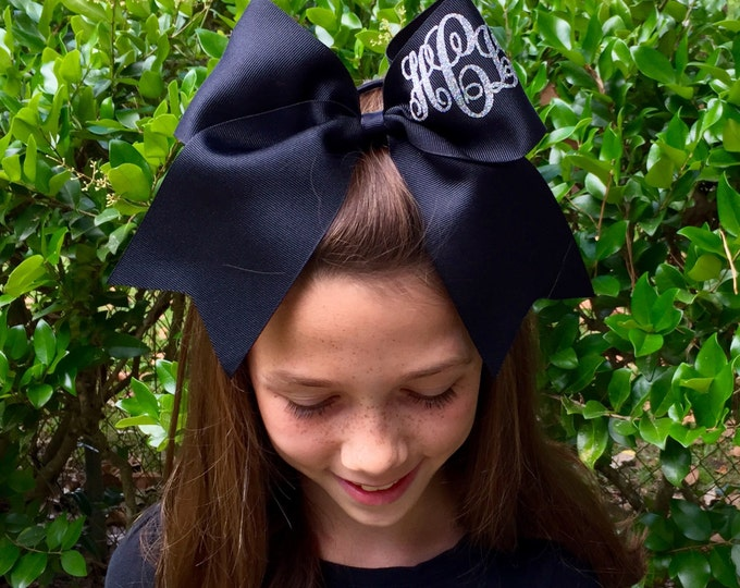 Monogram Cheer Bows, Hair bows, Monogrammed Gifts, Cheerleader Hair bows, Cheerleading Hair Bows, Cheer Team Hair Bows