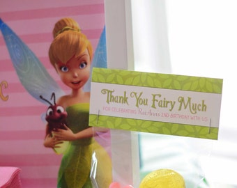 Treat Bag Toppers for a Fairy Birthday, DIY Party Printables, Tinkerbell Birthday - Pixie Hollow Collection - Instant Download