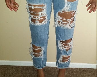 Distressed and Destroyed Jeans