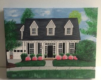Custom Home Portrait Painting