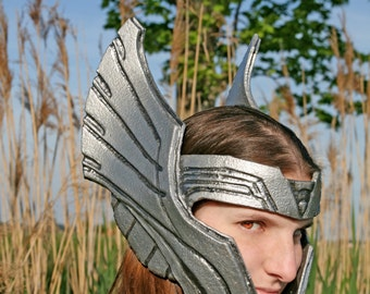 MADE TO ORDER - Thor headpiece headdress helm helmet silver wings avengers cosplay larp warrior fantasy renaissance burning man