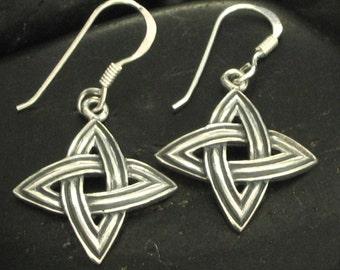 Sterling Silver .925 Woven Star Drop Earrings