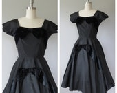 50s Suzy Perette party dress size small / 50s party dress