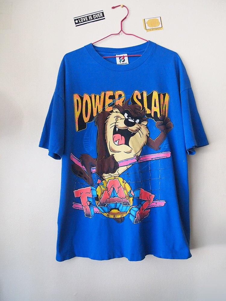 Vintage 90s Taz Shirt Tasmanian Devil Looney Tunes Tshirt