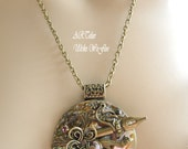 Amulets  Victorian Necklace Jewelry Costume romantic necklace victorian -DARK ROSE-