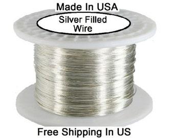 22 Ga SILVER Filled ROUND Wire (Half Hard )  1 OZ Coil