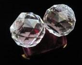 Swarovski Crystal Candle Holder Set Vintage Prism Round Candlestick Holders Two Crystals Home Decor Matching