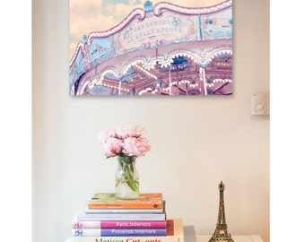 Paris Photography Print, Paris Carousel Photo, Paris Wall Art