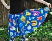 Zelda Pattern Skater Skirt