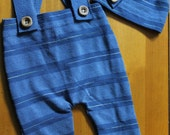 OOAK up cycled blue stripe photography prop set