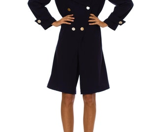 1980s Vintage Thierry Mugler Navy Jumpsuit   Size: S/M