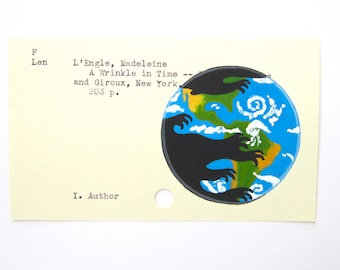 A Wrinkle in Time Library Card Art - Print of my painting on library card