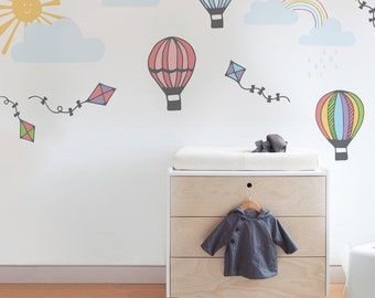 Hot air balloon wall sticker pack