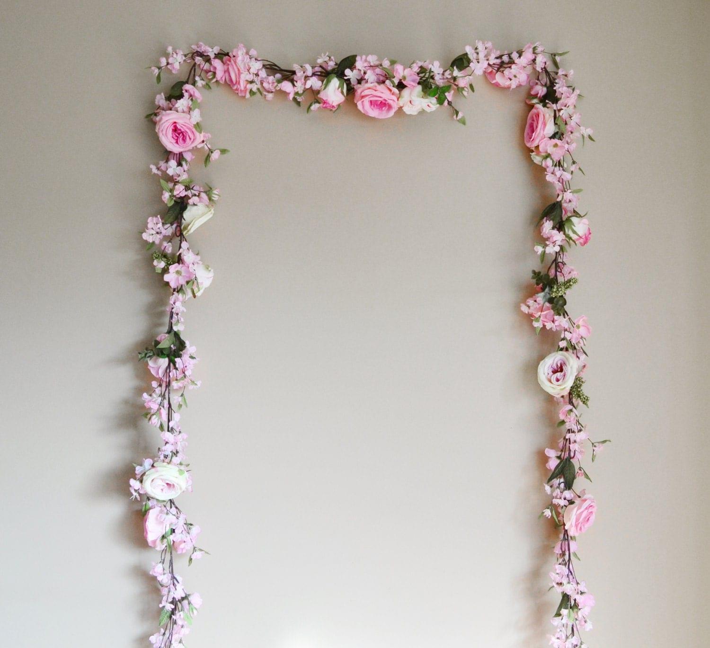 Flower Garlands For Weddings: Wedding Garland Floral Garland Flowers Pink Garland Silk