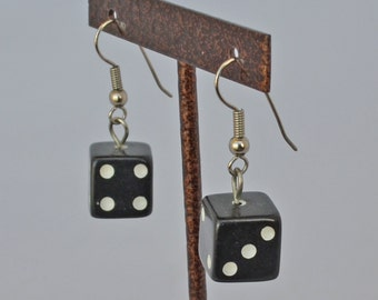 DESIIGNER Vintage Lucky Seven Dice Dangle Earrings  Pierce Style