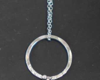 Coast silver Pebble necklace, handmade, ready to ship, hand made in UK