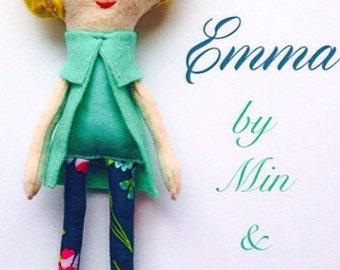 The Etta Dames Collection: Emma. Felt Doll. Children's Room Decor.