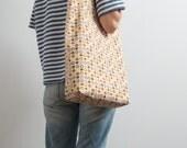 Polka Dot Tote Bag Bright Cotton Tote Bag Casual Bag Hipster Style Multi Color Bag Orange Purple Shoulder Bag Christmas Gifts Funny Tote Bag