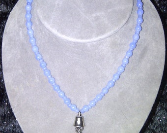 Periwinkle Glass Necklace