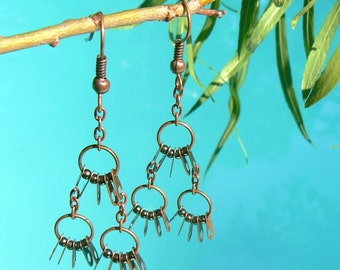 Steampunk Chandelier Earrings - Jewelry Findings Earrings - Boho Earrings