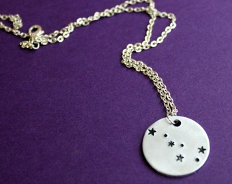 Big Dipper Necklace, Sterling Star Jewelry, Astrology, Constellation, Ursa Major, the Great Bear, Astronomy, Night Sky, Science, Star Gazing