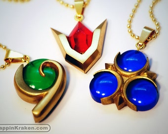 3-SET SALE Legend of Zelda Spiritual Stones Set of Charms Ocarina of Time