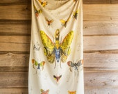 Natural History Cotton Tapestry, Hanging Wall Art, Woodlands, Handmade